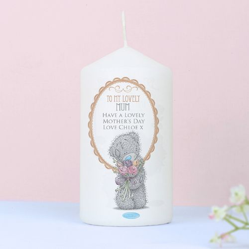 Personalised Me to You Flowers Candle For Her